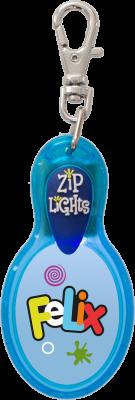 John Hinde Zip Light mit Namen Felix