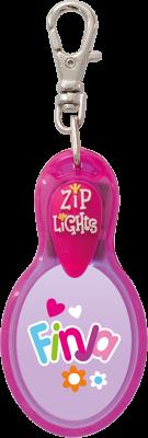 John Hinde Zip Light mit Namen Finja