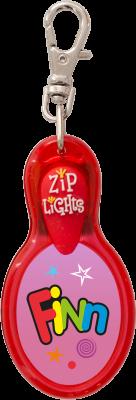 John Hinde Zip Light mit Namen Finn