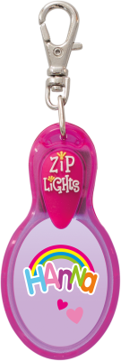 John Hinde Zip Light mit Namen Hanna