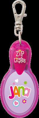 John Hinde Zip Light mit Namen Jana