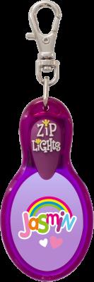 John Hinde Zip Light mit Namen Jasmin