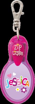 John Hinde Zip Light mit Namen Jessica