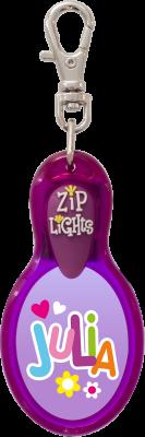 John Hinde Zip Light mit Namen Julia