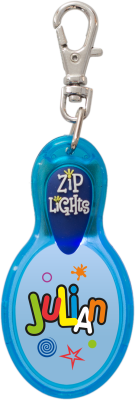 John Hinde Zip Light mit Namen Julian