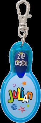 John Hinde Zip Light mit Namen Julian