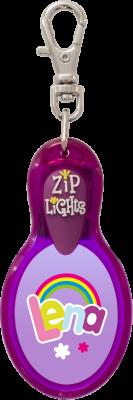 John Hinde Zip Light mit Namen Lena