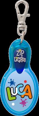 John Hinde Zip Light mit Namen Luca