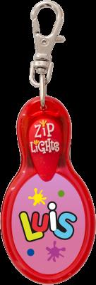 John Hinde Zip Light mit Namen Luis