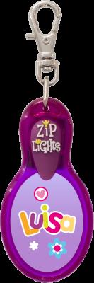 John Hinde Zip Light mit Namen Luisa