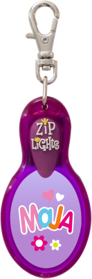 John Hinde Zip Light mit Namen Maja
