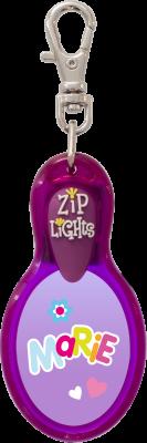 John Hinde Zip Light mit Namen Marie