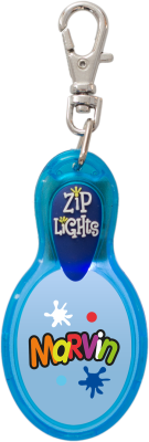 John Hinde Zip Light mit Namen Marvin