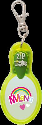 John Hinde Zip Light mit Namen Melina