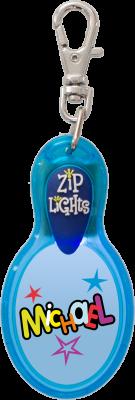 John Hinde Zip Light mit Namen Michael