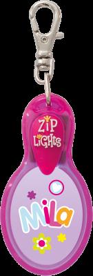 John Hinde Zip Light mit Namen Mila