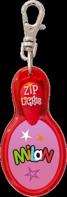 John Hinde Zip Light mit Namen Milan