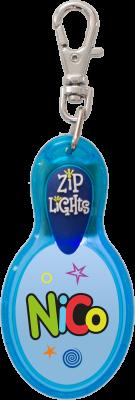 John Hinde Zip Light mit Namen Nico