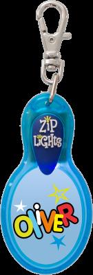 John Hinde Zip Light mit Namen Oliver