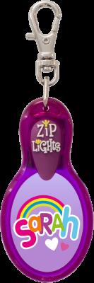 John Hinde Zip Light mit Namen Sarah