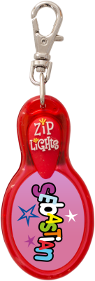John Hinde Zip Light mit Namen Sebastian