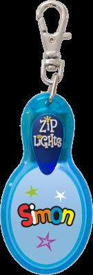 John Hinde Zip Light mit Namen Simon