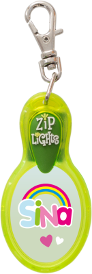 John Hinde Zip Light mit Namen Sina