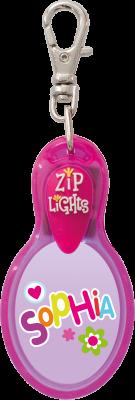 John Hinde Zip Light mit Namen Sophia