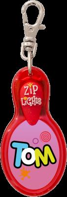 John Hinde Zip Light mit Namen Tom