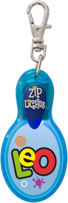 John Hinde Zip Light mit Namen Leo