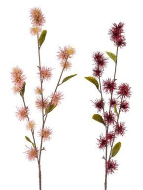 Dekozweig Hamalis-Zweig 60cm 1 Stück altrosa oder 1 Stück bordeaux sortierter Artikel