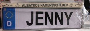 Auto Namensschild Jenny