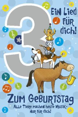 Depesche Zahlenkarten mit Musik 3 Ein Lied für dich! blau