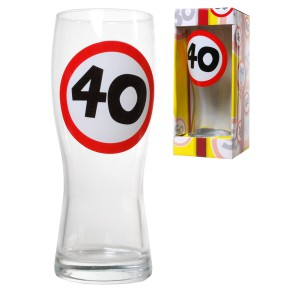 Bierglas 40 zum 40.Gebrutstag