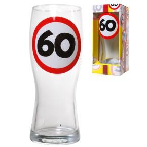 Bierglas 60 zum 60.Geburtstag