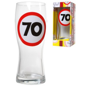Bierglas 70 zum 70.Geburtstag