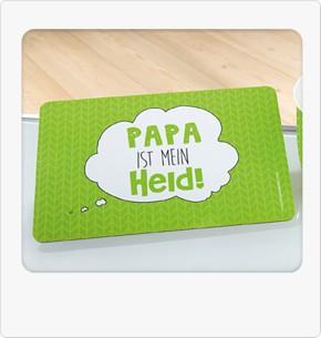 """Frühstücksbrettchen """"Papa ist mein Held!"""""""