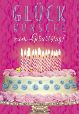 Pink Flamingo Geburtstagskarte Klappkarte Glückwünsche zum Geburtstag!