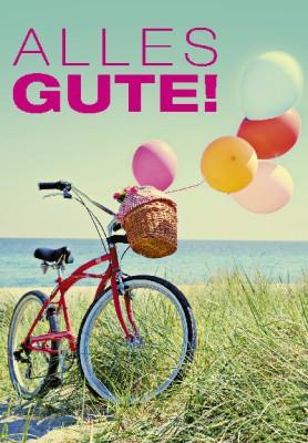 Pink Flamingo Geburtstagskarte Klappkarte Alles Gute!