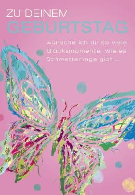 Pink Flamingo Geburtstagskarte Klappkarte Zu deinem Geburtstag wünsche ich dir ...