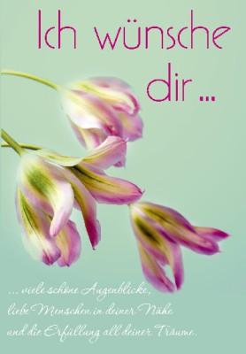 Pink Flamingo Geburtstagskarte Klappkarte Ich wünsche dir viele schöne Augenblicke