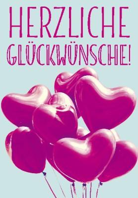 Pink Flamingo Geburtstagskarte Klappkarte Herzliche Glückwünsche!