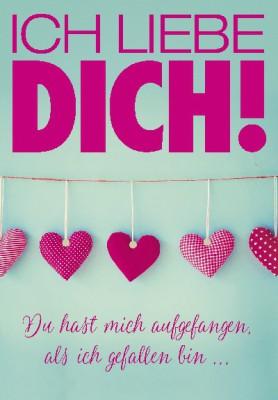Pink Flamingo Geburtstagskarte Klappkarte Ich liebe DICH! Du hast mich auf...