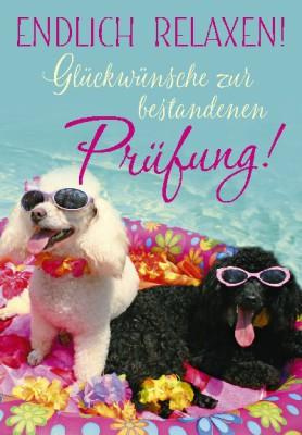 Pink Flamingo Geburtstagskarte Klappkarte  Endlich relaxen! Glückwünsche zur ...
