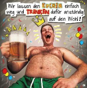 Geburtstagskarte mit Musik 3868-006c Die Krüge hoch..