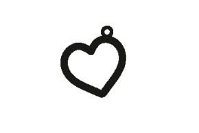 Versilbertes Armband mit Namen Herz (Symbol)