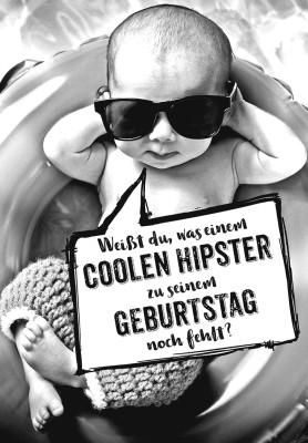 Depesche lustige Klappkarten Menschenskinder Weißt du, was einem coolen Hipster...