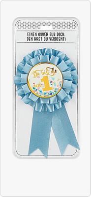 Glückwunsch Rosette Simply The Best - Ansteckorden Du bist die Nr. 1