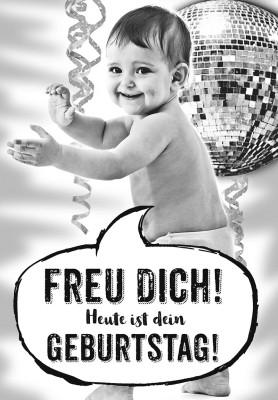 Depesche lustige Klappkarten Menschenskinder - Freu dich! Heute ist dein Geburtstag!