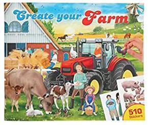 Create your Farm, Motiv: Farm, 1 Stickerbuch, Malbuch + 510 Stickers Länge: 0.6 cm Breite: 30 cm Höhe: 25 cm ab 4 Jahre
